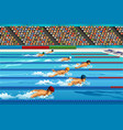 swimming competition vector image