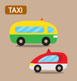 taxi cartoon design vector image vector image