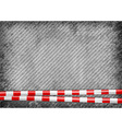 texture grain grey with red tape vector image