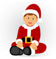 the child is dressed as santa vector image