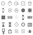 Time icons on white background vector image