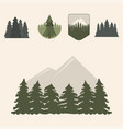 tree outdoor travel pine silhouette coniferous vector image