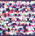 triangle seamless pattern grunge effect vector image vector image