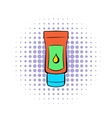 Tube of lubricant gel icon comics style vector image vector image