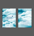 two-sided vertical flyer a4 format vector image vector image