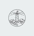 vintage of thin line sea beacon icon vector image vector image
