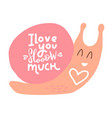 with pink snail heart vector image vector image