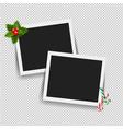 xmas photo frame vector image vector image