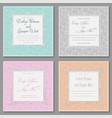 elegant wedding invitation set beautiful stylish vector image