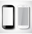 smartphones on white background vector image
