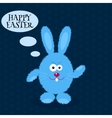 Cartoon rabbit Greeting card with Easter rabbit vector image