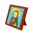 Church icon depicting St cartoon icon vector image