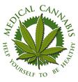 Medical Cannabis-emblem vector image