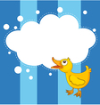 A stationery with a young duck vector image vector image