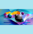 abstract geometric poster created with polygonal vector image