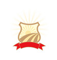 agriculture industry emblem - shield with sun