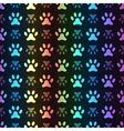 Animal seamless spectrum pattern of paw vector image vector image