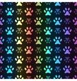 animal seamless spectrum pattern paw vector image vector image