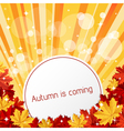 autumn is coming vector image vector image
