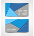 Blue and gray modern business card template vector image vector image