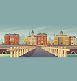 bridge over rivet and promenade old european town vector image vector image