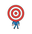businessman character with bulls eye head and vector image