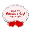 card with valentine day vector image vector image