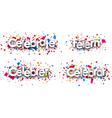 Celebrate paper banners vector image vector image