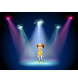 Center Stage Kid vector image vector image