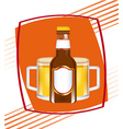 cold beer vector image vector image