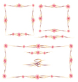 Colorful Floral Frames and Ornaments Set vector image