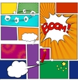Comics book Template vector image vector image