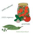 conservation veget vector image vector image