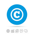 copyright sign icon copyright button vector image
