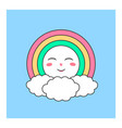 cute heavenly character vector image vector image