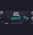 cyber monday social media sale banner ad template vector image vector image