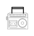 dotted shape radio equipment to listen music with vector image vector image