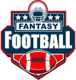 fantasy football badge logo design vector image vector image