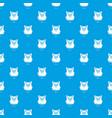 fitness shirt women pattern seamless blue vector image vector image