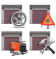 Garage Icons set 3 vector image vector image