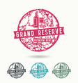 Grand reserve wine label vector image