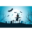 Halloween Zombie Party Poster vector image vector image
