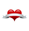 heart banner romantic love graphic vector image vector image