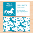 Horses Business Card 2 vector image vector image