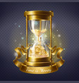 hourglass with gold coins time is money vector image