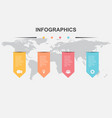 infographic design template with ribbons vector image vector image