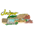 jaipur doodles vector image vector image