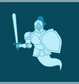 knight ghost isolated metal armor warrior iron vector image vector image