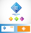 Letter e rhombus logo vector image vector image