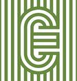 letter line alphabet design vector image vector image